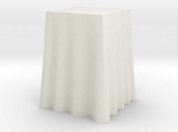 "1:24 Draped Bar Table - 24"" square in White Strong & Flexible"