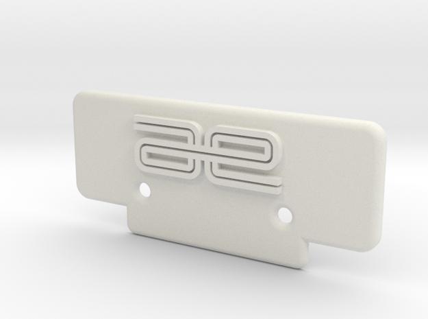 RC10T Bumper in White Natural Versatile Plastic