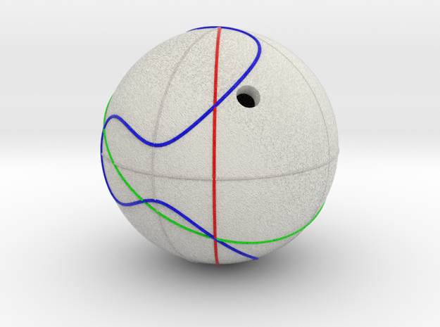 Elliptic Curve Addition on Sphere (1 component) in Full Color Sandstone