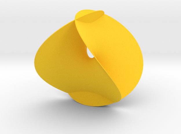 Enneper Minimal Surface in Yellow Processed Versatile Plastic