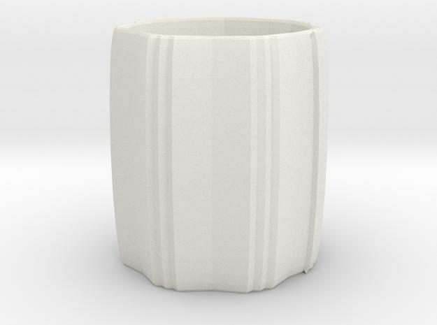 Napkin Ring in White Natural Versatile Plastic