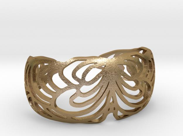 Butterflybracelet in Polished Gold Steel