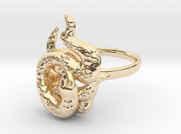 Covetous Gold Serpent Ring, Size 8.5