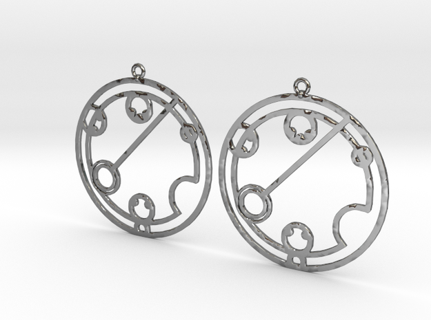 Katelynn - Earrings - Series 1 in Fine Detail Polished Silver
