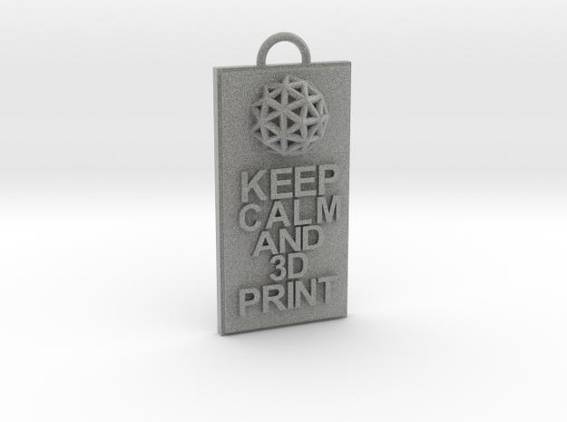 Keep Calm and 3D Print (Hypercube) Keychain 3d printed