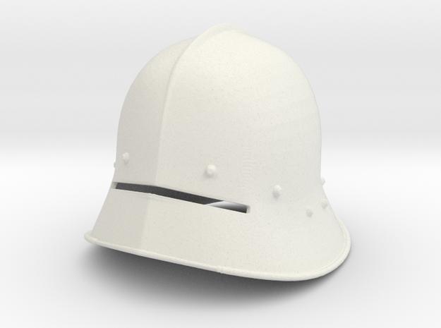 1:6 sallet helmet in White Natural Versatile Plastic