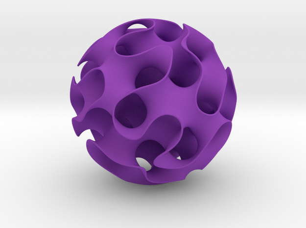 Gyroid in Purple Processed Versatile Plastic