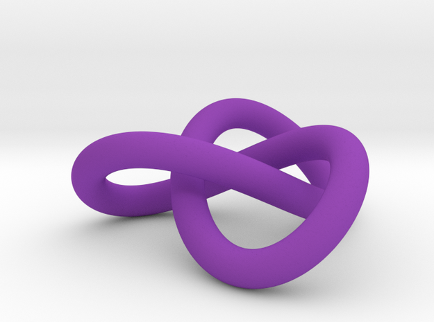 Trefoil Knot Pendant (2cm) in Purple Strong & Flexible Polished