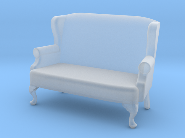 1:43 Queen Anne Wingback Settee in Smooth Fine Detail Plastic