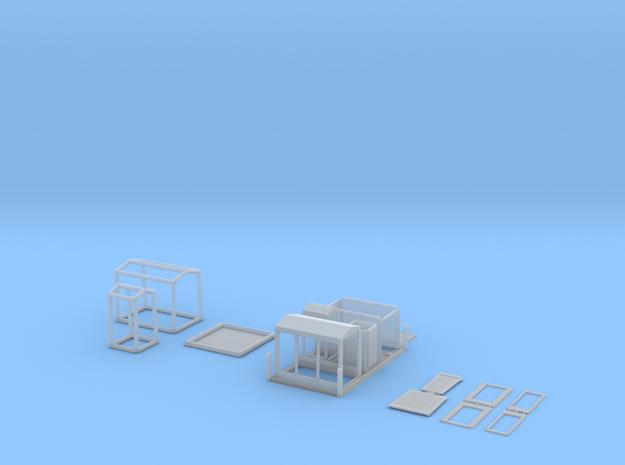 HO/1:87 Decon set kit 3d printed
