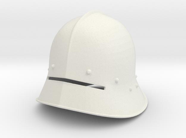 1:6 sallet Helmet 6th small size in White Natural Versatile Plastic