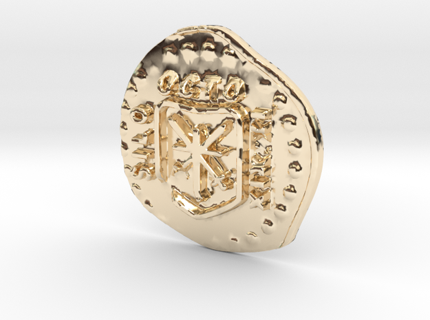 Shiloh pirate coin in 14K Gold