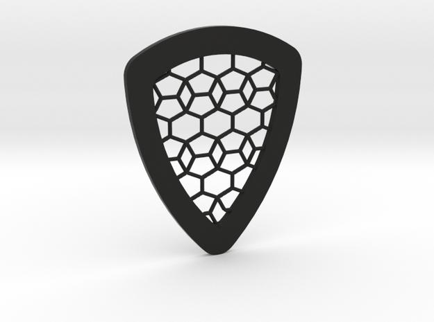 Tessellation Guitar Pick in Black Natural Versatile Plastic