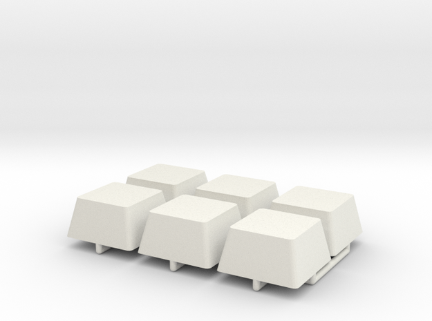 Shoulder Attachment Block in White Natural Versatile Plastic