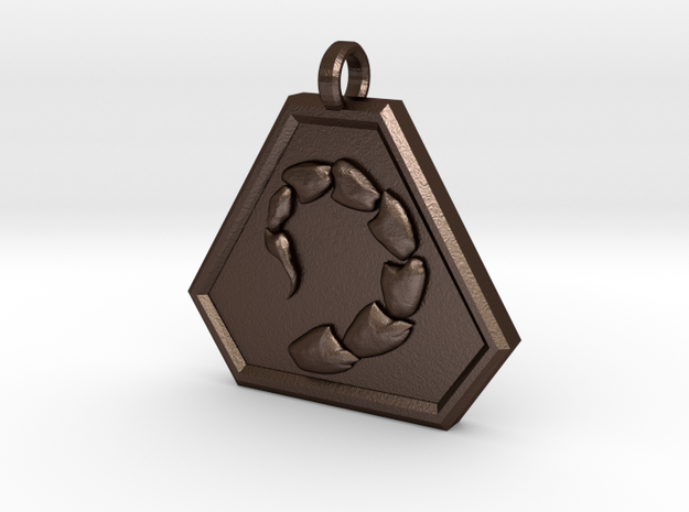 Brotherhood of Nod Pendant - Small 3d printed