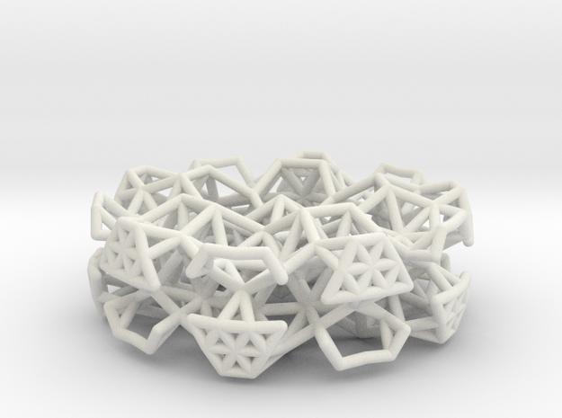 Orbital Pendant in White Natural Versatile Plastic