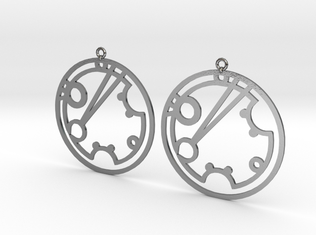 Shoshannah - Earrings - Series 1 in Polished Silver
