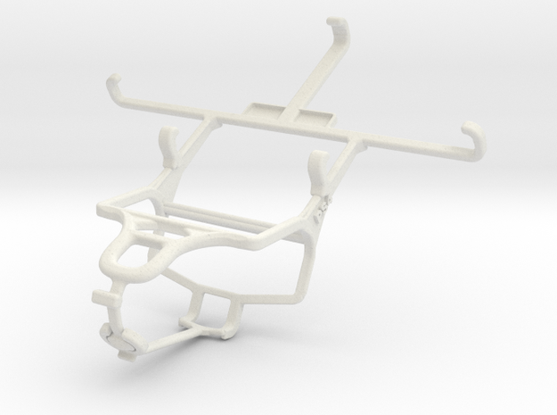 Controller mount for PS4 & Samsung I9506 Galaxy S4 in White Natural Versatile Plastic