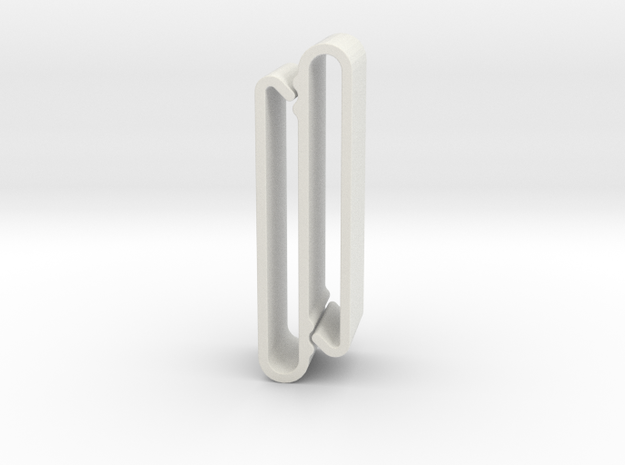 S Belt Clip - Medium Duty in White Strong & Flexible