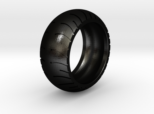 Chopper Rear Tire Ring Size 12 in Matte Black Steel