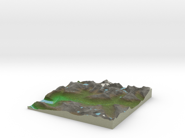 Terrafab generated model Wed Feb 04 2015 21:39:30  in Full Color Sandstone