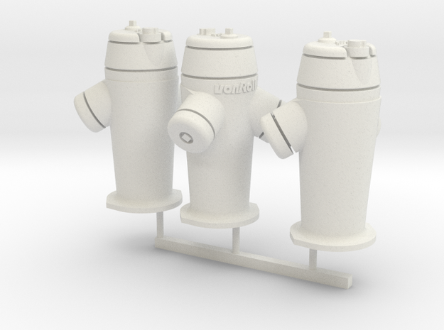 RhB Fire Hydrant set in White Strong & Flexible