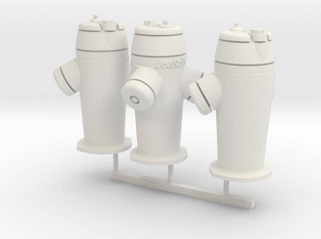 RhB Fire Hydrant set in White Natural Versatile Plastic