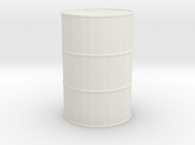 Single-barrel 1/29 scale in White Natural Versatile Plastic