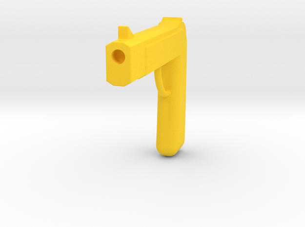 One Piece Fake Golden Pistols in Yellow Strong & Flexible Polished
