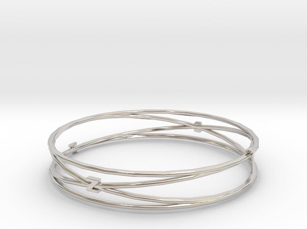 Bangle Tb2 render test in Rhodium Plated
