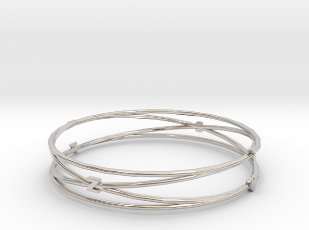 Bangle Tb2b Render Test in Rhodium Plated