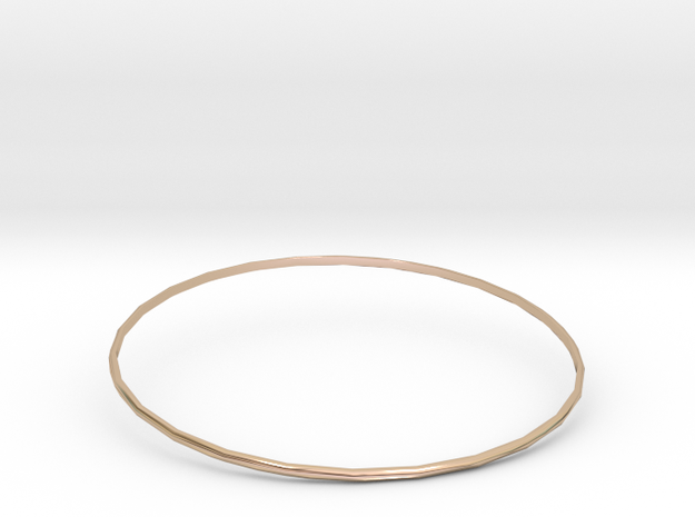 Bangle 6 in 14k Rose Gold Plated