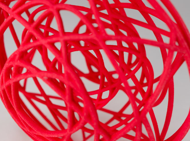 Stained Glass Ornament 3d printed Printed in Coral Red