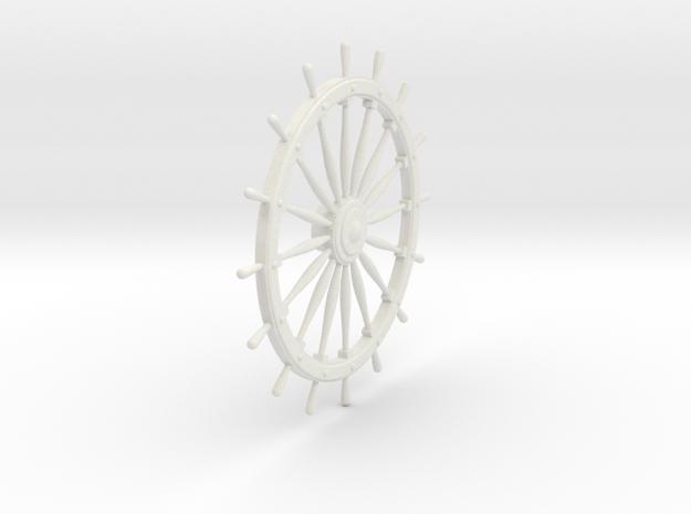 Ship's Wheel in White Natural Versatile Plastic