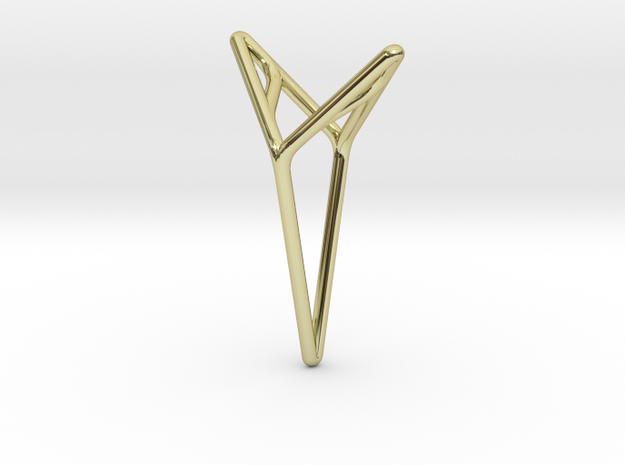 YOUNIVERSAL M, Pendant. Smooth Elegance in 18k Gold Plated Brass
