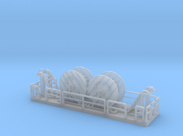 0009 Z Gauge 1:220 Kabelwagen Oberleitung in Smooth Fine Detail Plastic