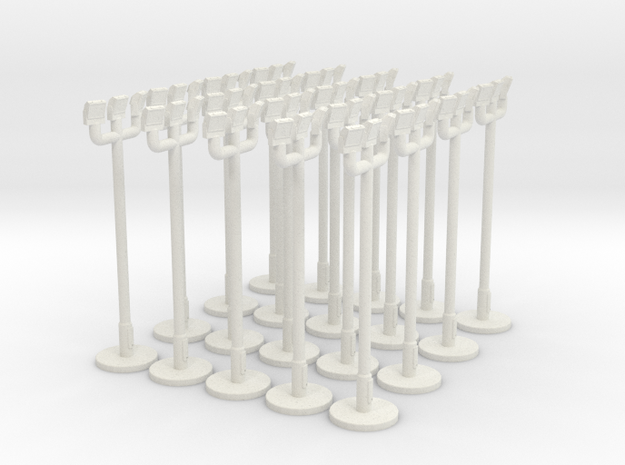 1:400 - Floodlight_v2 [x20] in White Natural Versatile Plastic
