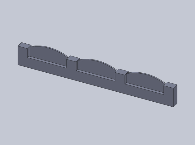 Mauer / Zaun, Wall / Fence 1/285 6mm 3d printed