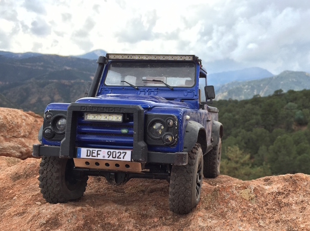 Defender A-Frame Protection Bar - MadDogRC in White Strong & Flexible Polished