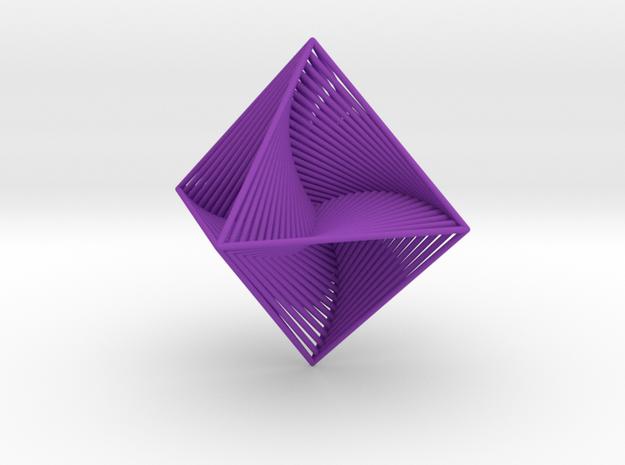 0048 Octahedron Line Design (10 cm) #002