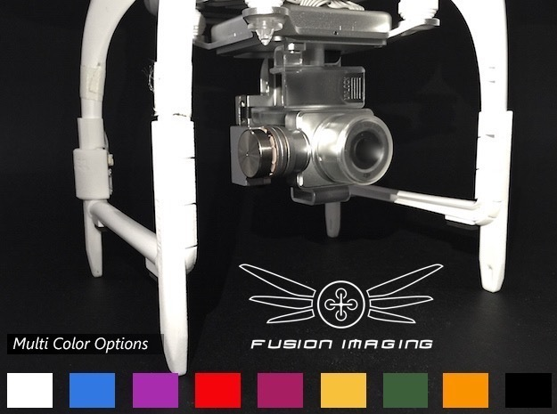 DJI Phantom Compass Leg Extender (V3) 'Straight' in White Strong & Flexible Polished