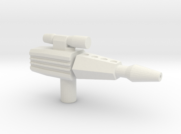 Laser Pistol in White Natural Versatile Plastic