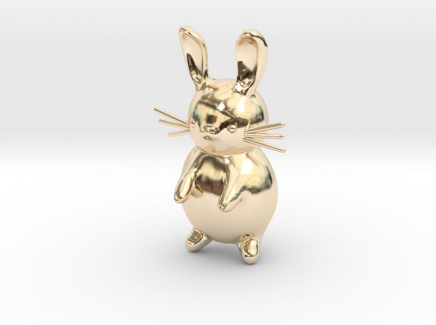 Cartoon Rabbit  in 14k Gold Plated Brass