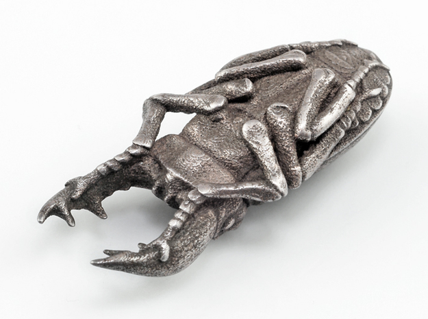 Stag Beetle in Polished Bronzed Silver Steel