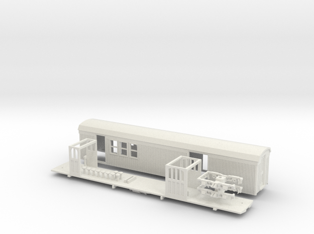 Sandy River #6 RPO/Baggage car HOn30 (with trucks) 3d printed