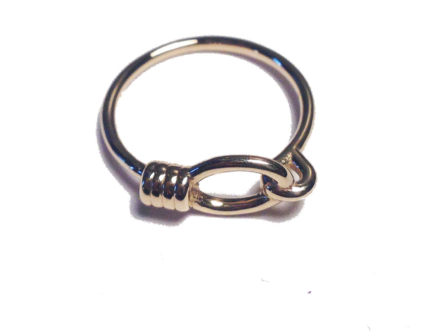 Noose Ring - Sz. 7 in 14K Yellow Gold