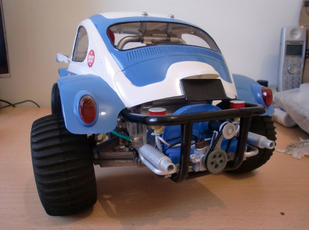 Scale engine replica for tamiya sand scorcher and