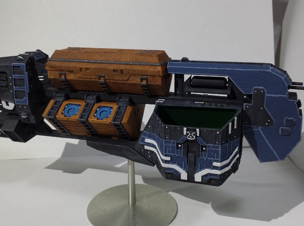"Somtaaw ""Explorer"" Command Ship 3d printed The Faal-Corum, painted."