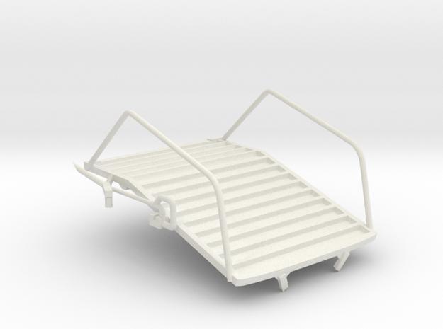 Egress Platform in White Natural Versatile Plastic