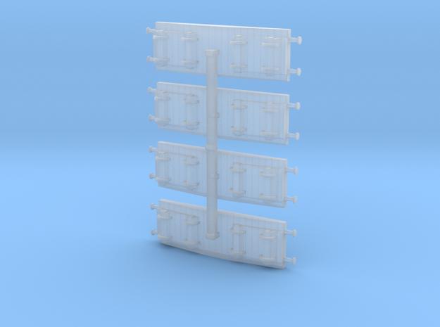 Flatcar / Flachwagen Set of 4 1/285 6mm 3d printed